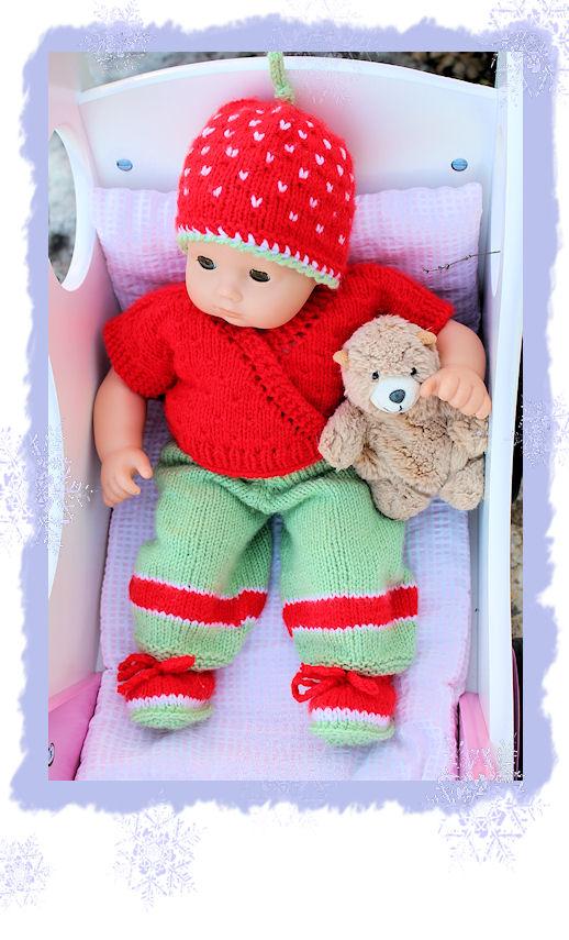 Weihnachtsgarnitur Für Bitty Baby Puppe Grösse 40 Cm Landherz Blog
