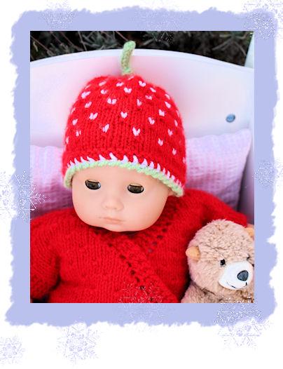 Weihnachtsgarnitur für Bitty Baby Puppe, Grösse 40 cm | landherz-Blog
